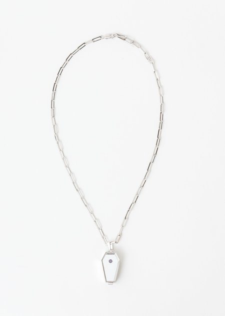 William Shen Coffin Necklace - Silver