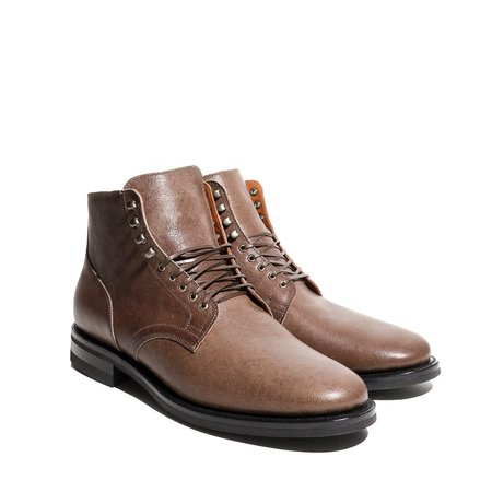 Viberg Service Boot in Maryam Brown Washed Camel