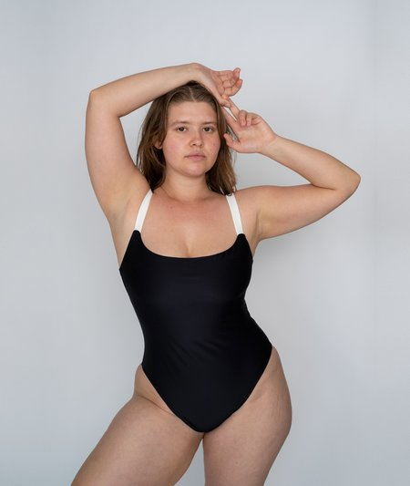 The Saltwater Collective Penny One Piece - Black/Ivory