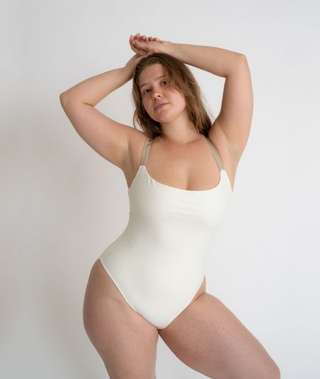 The Saltwater Collective Penny One Piece - Ivory/Crepe