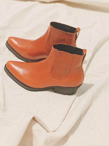 Our Legacy Leather Cuban Boot - Arancia Orange