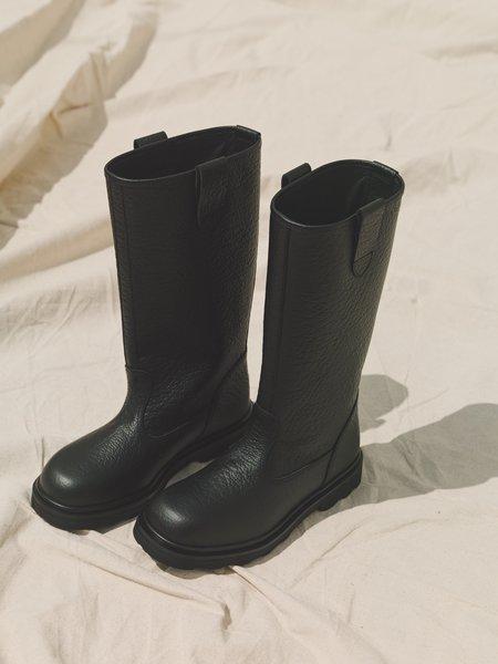Marni Leather Engineer Boots - Black