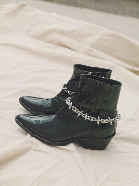 Nomenklatura Studio Patent Spike Chain Vaquero Boot