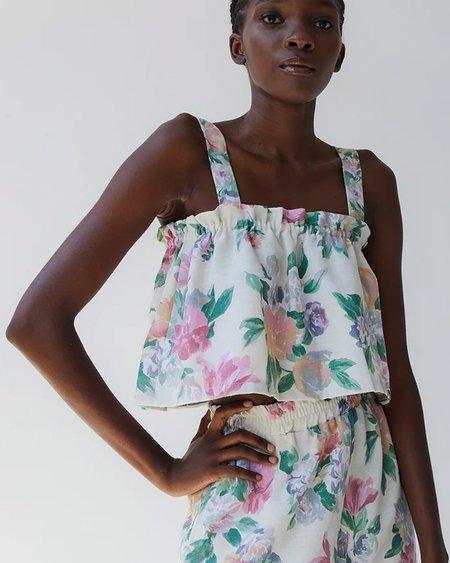 Tach Clothing Lara Linen Top - Floral