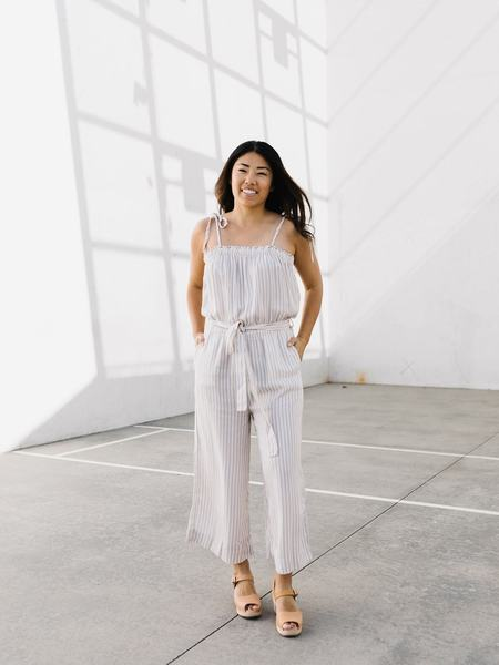 Thread + Supply Giverny Jumpsuit - Ivory Stripe