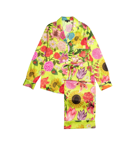 Karen Mabon Pajama Set - Florist Lime Print