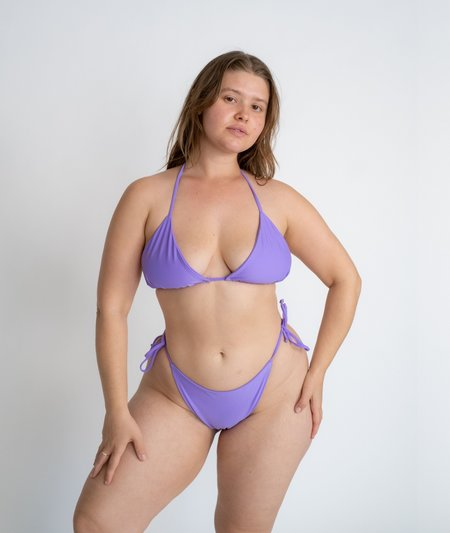 The Saltwater Collective Triangle Bottom - Lavender