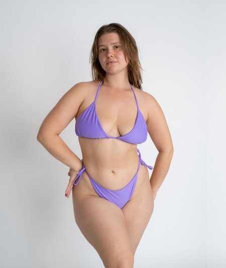 The Saltwater Collective Triangle Top - Lavender