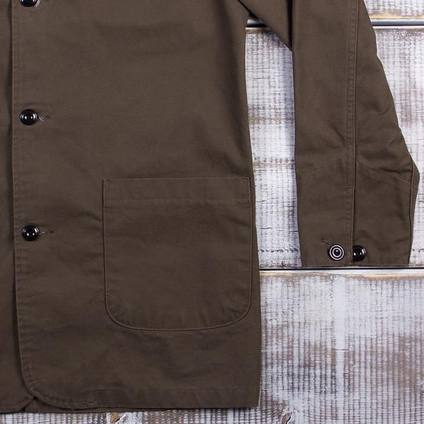 NAQP Longhorn Chore Coat - 9oz Sanded Canvas - Dark Olive