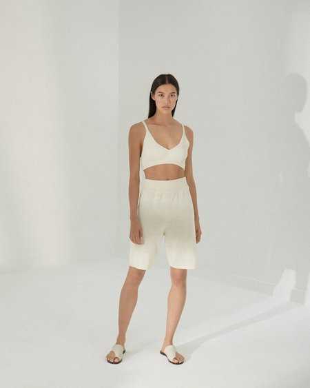 Mónica Cordera Linen Bermuda Shorts - Natural