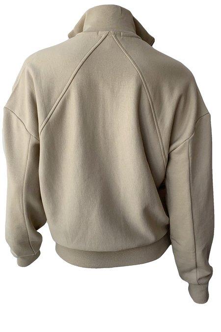 Rag & Bone City Half Zip Pullover - Warm Khaki