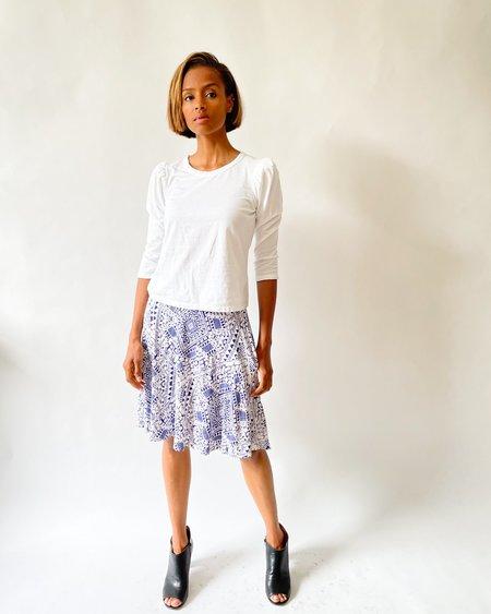 [Pre-loved] Cynthia Rowley Printed Mini Skirt - White/Purple