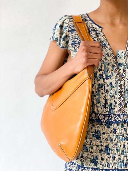Vintage Gucci Leather Shoulder Bag - Tan