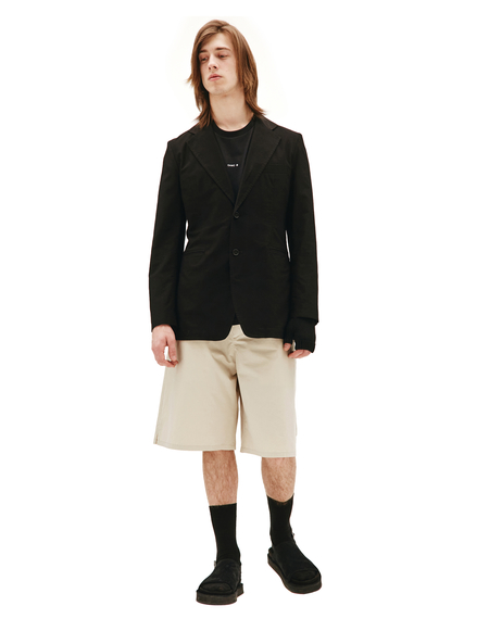 Yohji Yamamoto Black Cotton Jacket