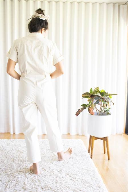 Alex Mill Romy Short Sleeve Jumpsuit - Oatmilk