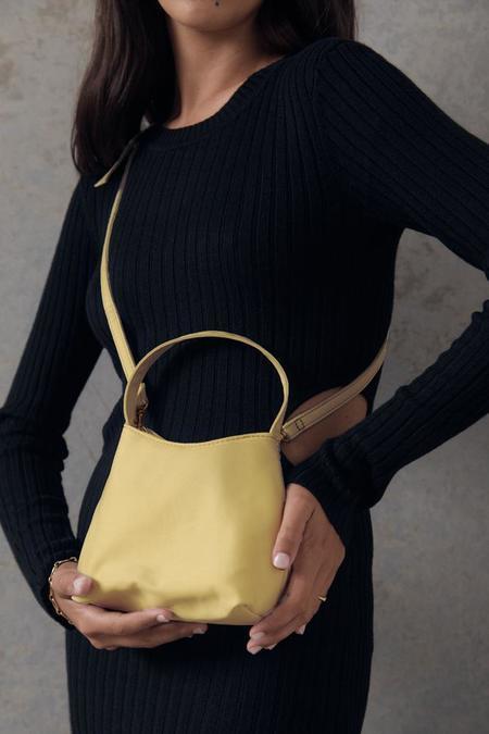 BRIE LEON The Mini Chloe Satin Bag - Baby Yellow