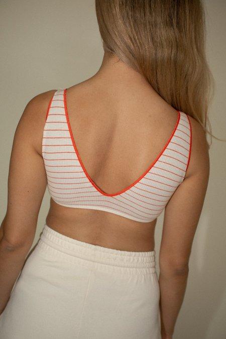 Baserange Pam Bra - Red/White Stripe