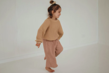 kids Illoura the Label Knit Pants - Strawberry