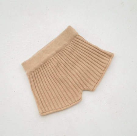 kids Illoura the Label Knit Shorts - Caramel