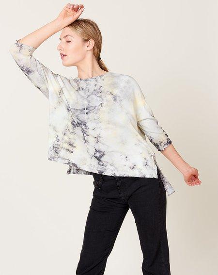 Raquel Allegra Cocoon Shirt - Black Lemon Tie Dye