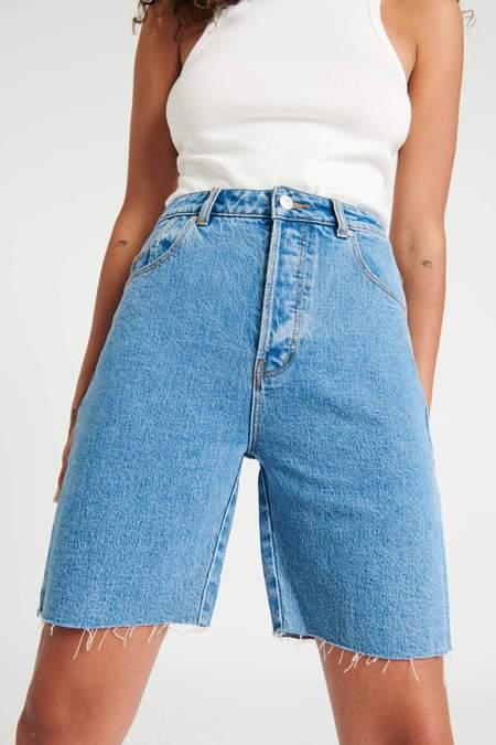 Rollas classic cutoff shorts - cindy blue