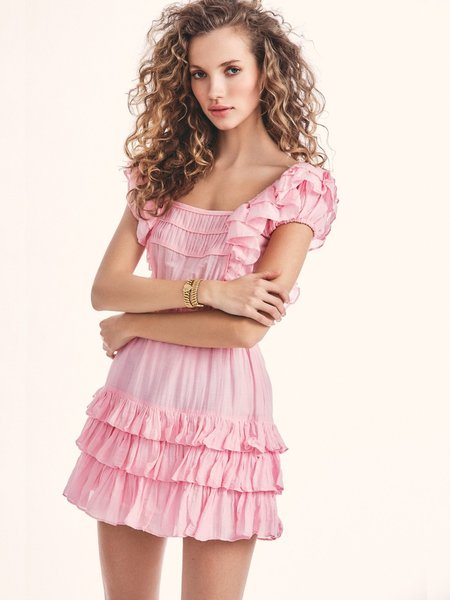 LoveShackFancy Ivoire Dress - Pink Blossom