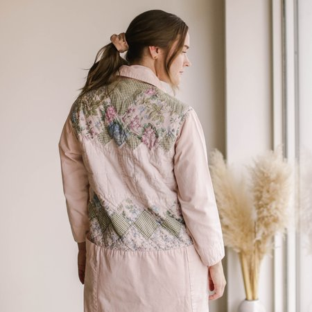 Carleen Quilt Back Harris Duster - Pink