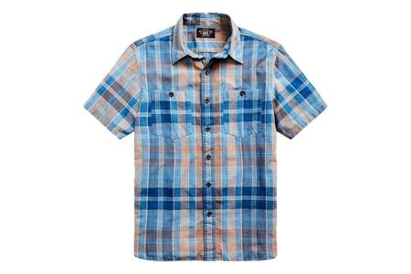RRL Plaid Woven Workshirt - Indigo/Brown