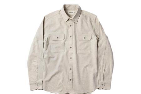 Taylor Stitch The Chore Shirt - Natural Herringbone