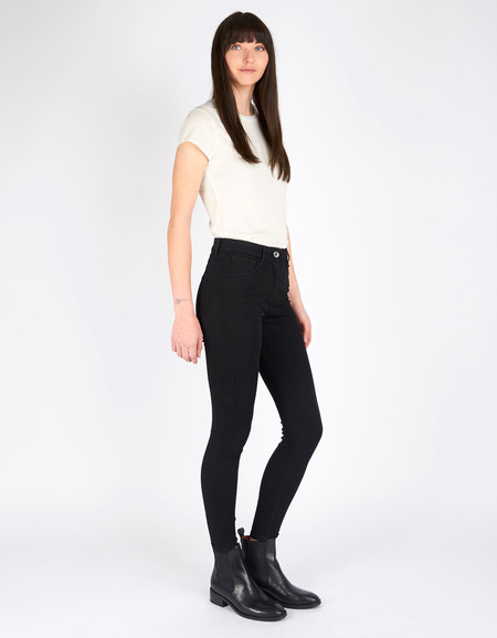 3x1 W3 High Rise Crop Skinny Jean Black