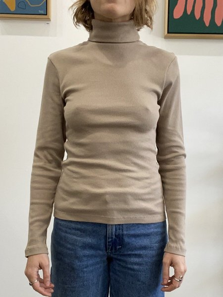 signe Lila Highneck Top - taupe