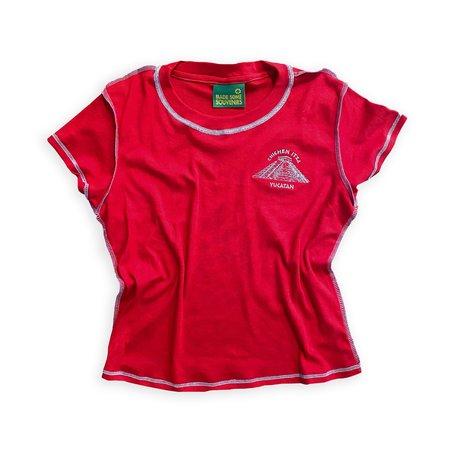 Lolo Chichen Itza Tourist Baby Tee - Cherry Red