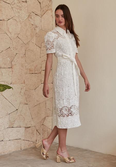 CHRISTY LYNN Penelope Dress - White Floral