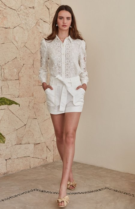CHRISTY LYNN Victoria Blouse - White Floral