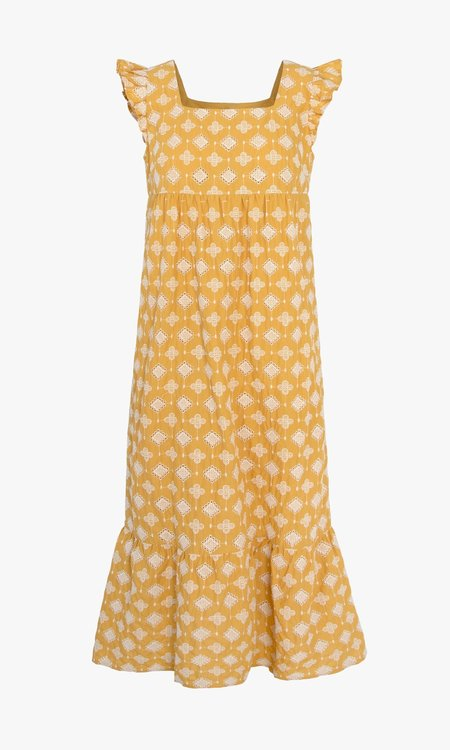 Mabel and Moss Bella Embroidered Eyelet Nap Dress