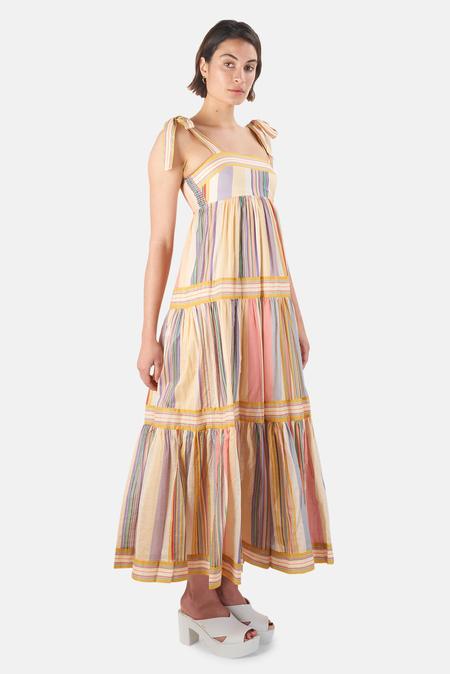Zimmermann Mae Tie Shoulder Dress - Multi Stripe