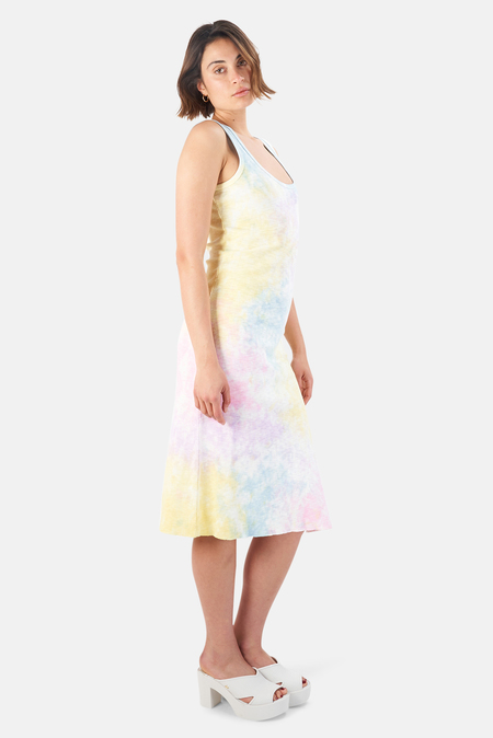 LoveShackFancy Citra Midi Dress - Unicorn Hand Dye
