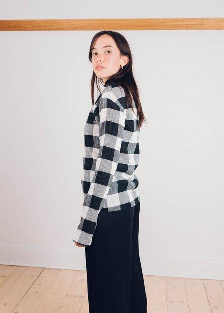 FME Apparel Checkered Shirring Skivvy - Black/White