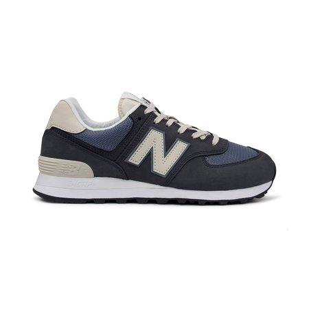 New Balance 574 Suede Mesh Sneaker - Navy