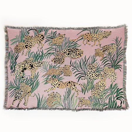 OLIVIA WENDEL Cheetahs Blanket - PINK