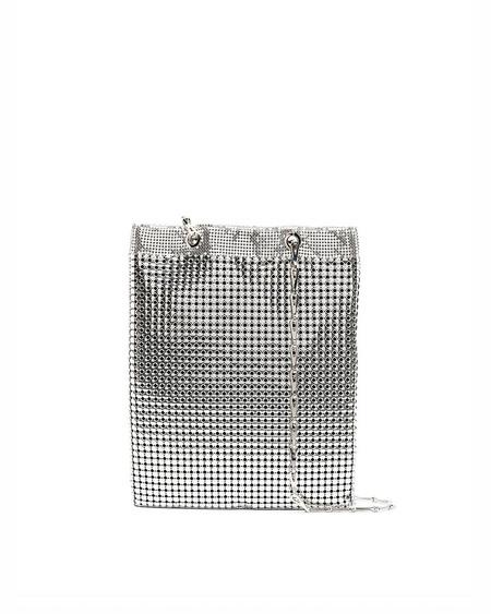 Paco Rabanne Metal shoulder Strap Bag - silver
