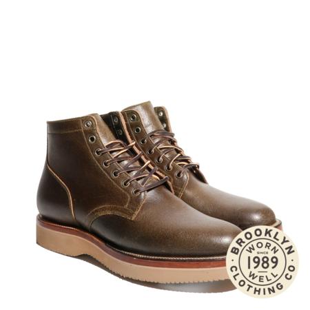 Viberg Service Waxed Flesh 2030 Boot - Horween Dark Olive