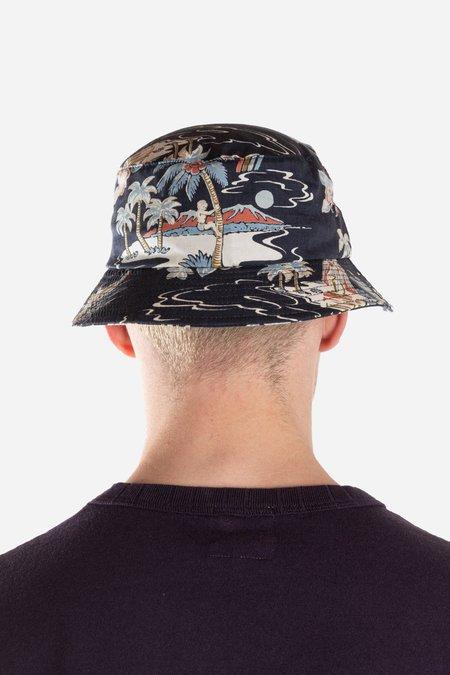 Lite Year Hawaiian Bucket Hat - Navy