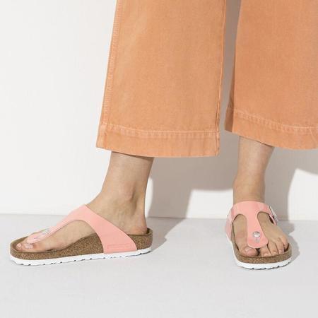 Birkenstock Gizeh Birko-Flor Patent sandal - Patent Coral Peach