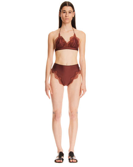 Oseree Costume with Lace Detail - Brown