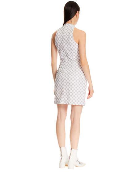 MISBHV Short Monogram Dress - White
