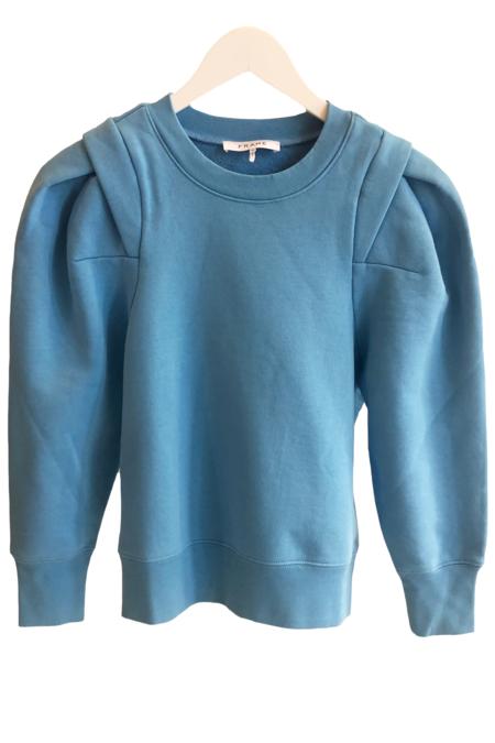 FRAME Denim Pleated Panel Sweatshirt - Heritage Blue