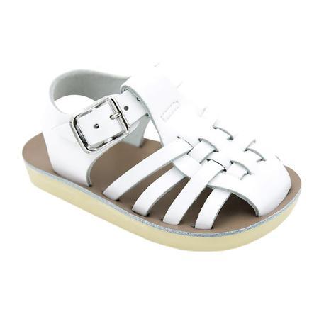 kids Saltwater Sandals Sailor Sandals - White