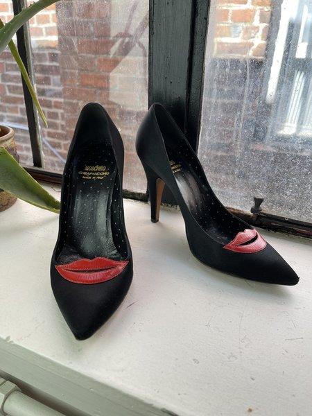 pre-loved Moschino Cheap & Chip Lip Heels - black multi