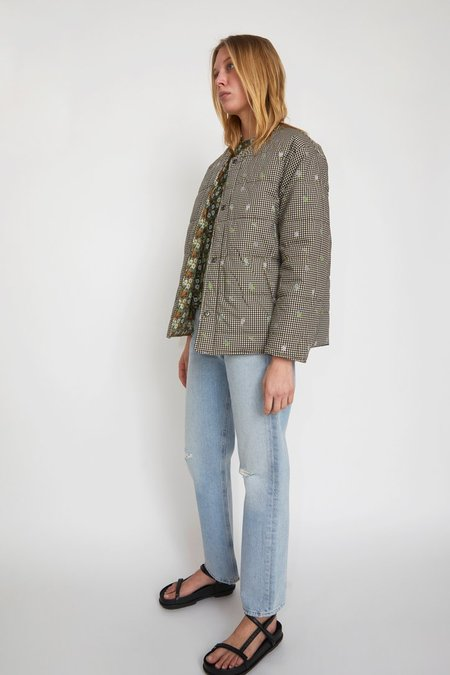 No.6 Glenn Quilted Jacket - Pansy/Gingham